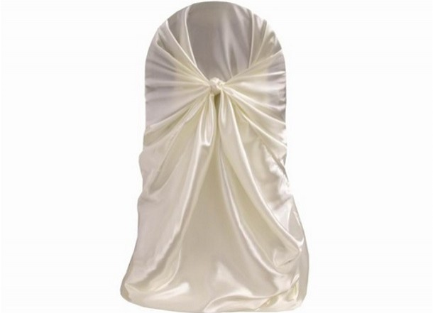 Ivory universal chair cover
