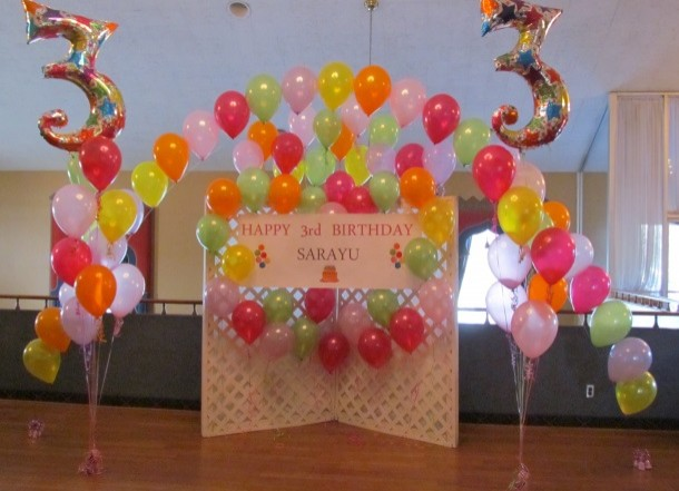Balloon Arch For 3 Year Old